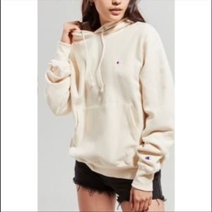 UO pale yellow champion hoodie NOT FOR SALE!!